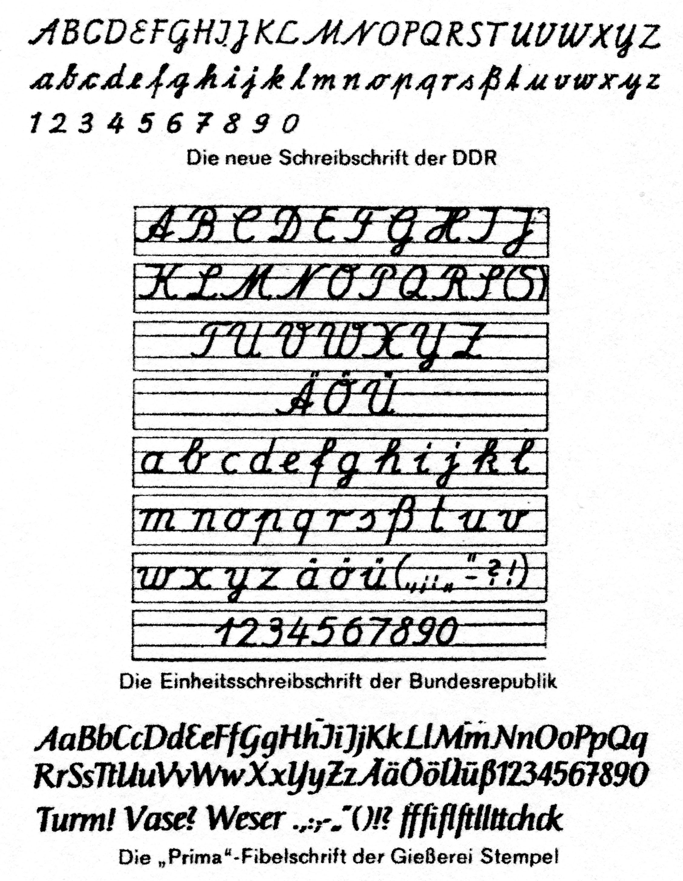 schreibschrift
